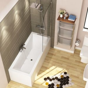 straight bathtub