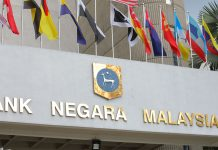 National Bank of Malaysia's entrance.