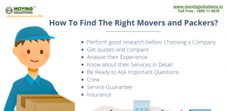 How to find the right movers and packers