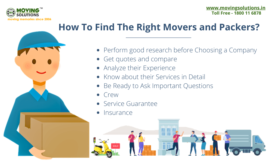 How to Find the Right Movers and Packers? Moving Solutions